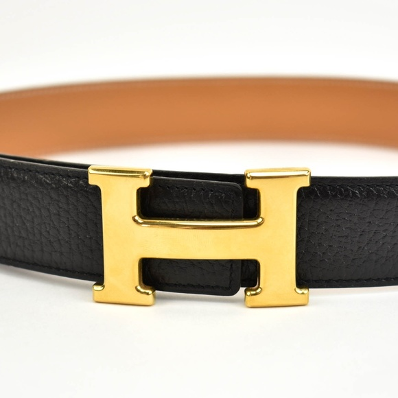 c2df90a2782ce Hermes Accessories - HERMES Black Brown Reversible Leather H Belt (sp)